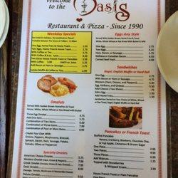 Photo Of Oasis Restaurant Bristol Ct United States Menu