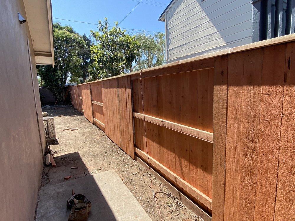 Los Padres fence: 323 W Padre St, Santa Barbara, CA