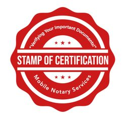 Photo Of Stamp Certification Mobile Notary Services