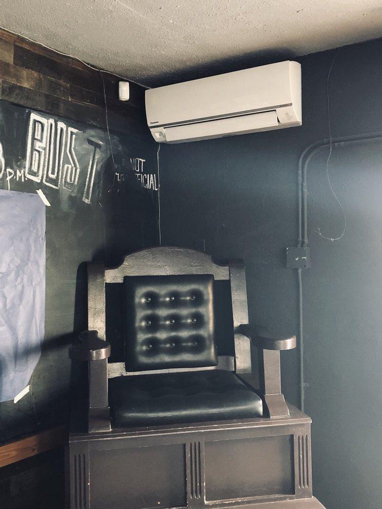 matt installing mini-split system into TRADE bar, Denver  (santa fe