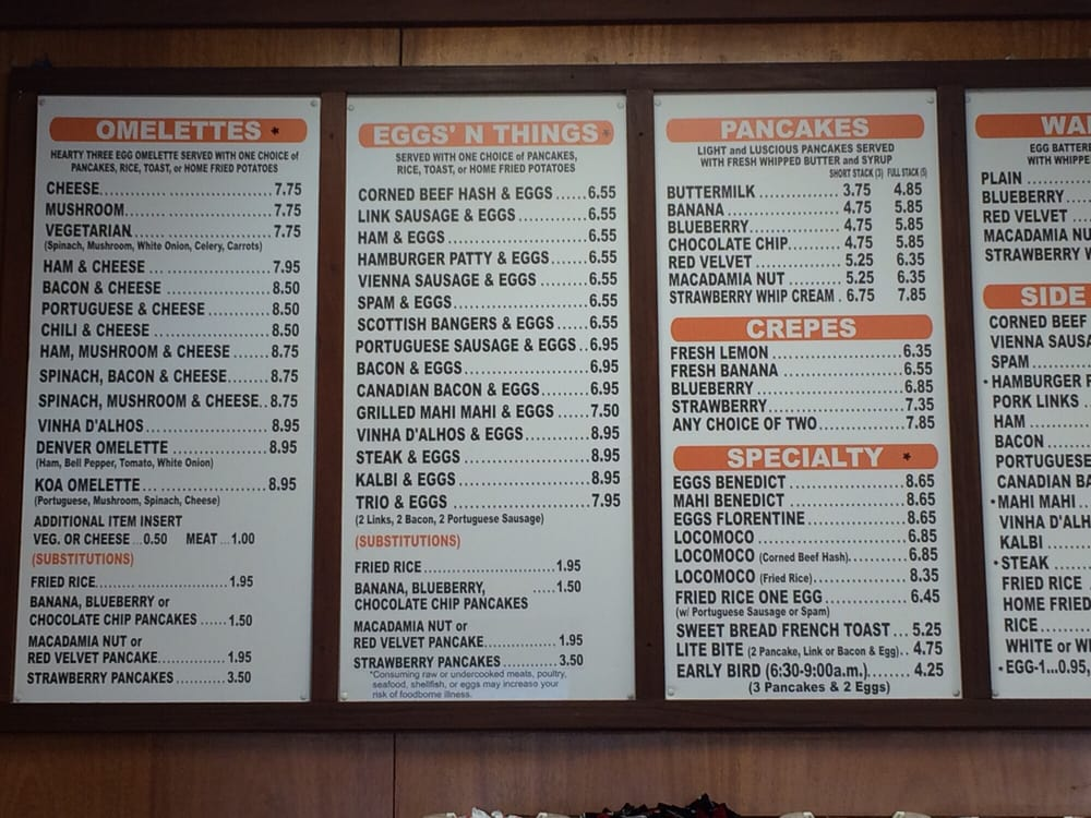 First Half Of The Menu Such Great Prices Compared To