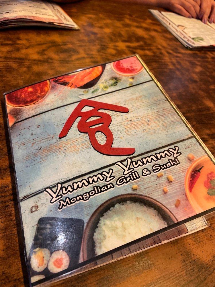 Food from Yummy Yummy Mongolian Grill & Sushi