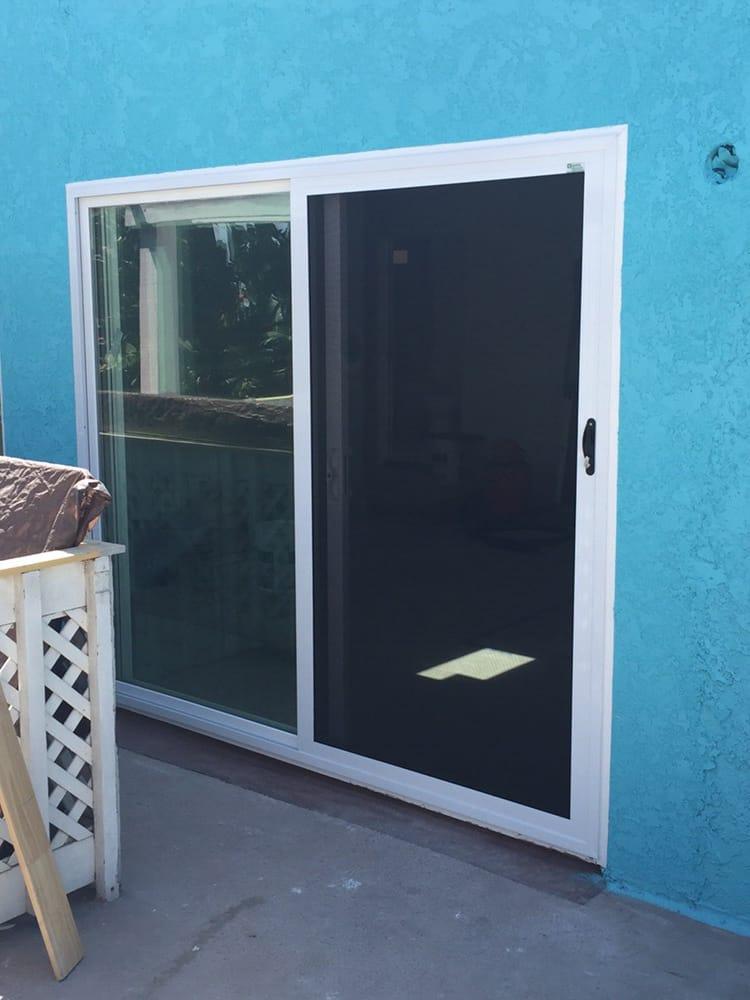 Crl single sliding security screen door in belmont shores for Single sliding screen door