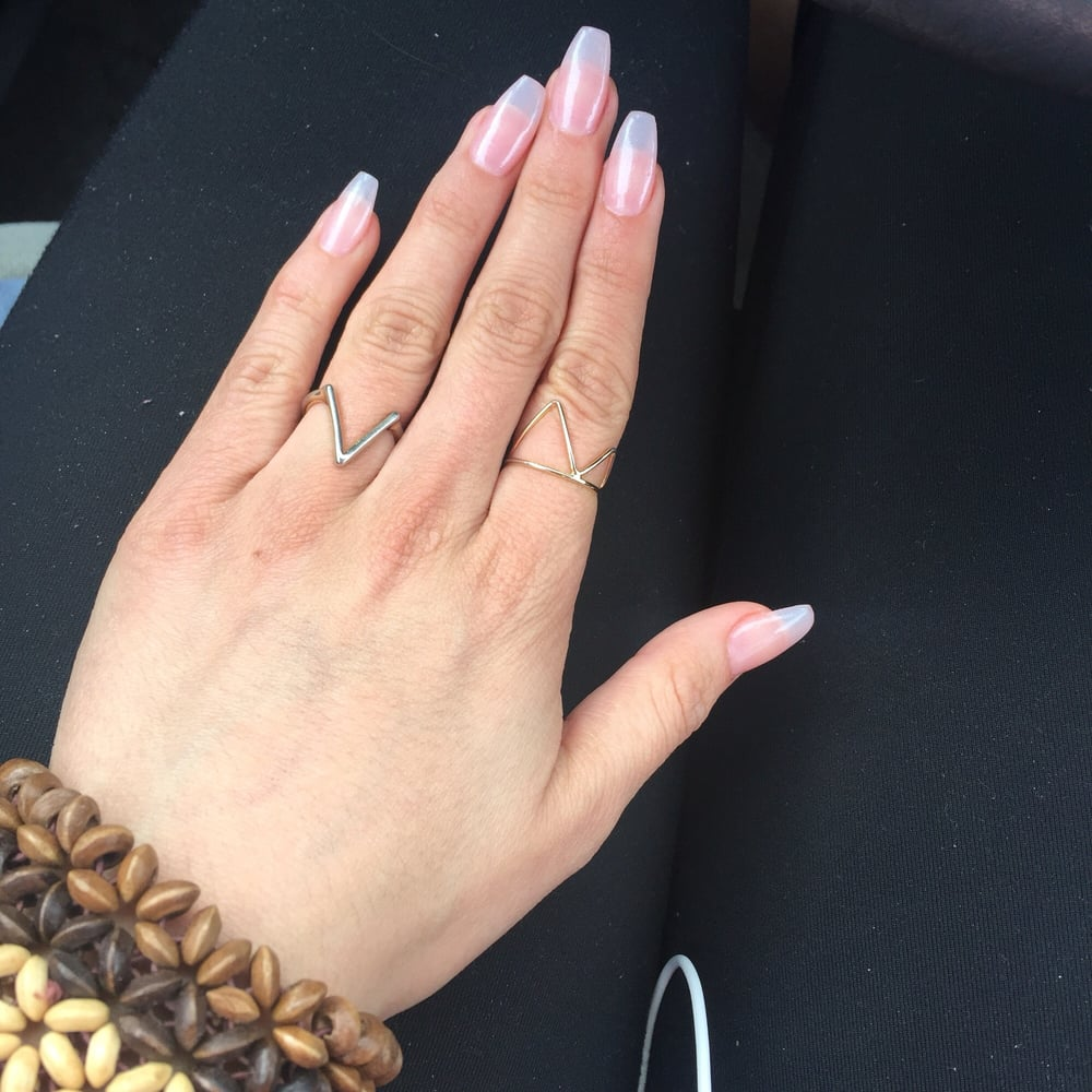 Coffin natural nails - Yelp