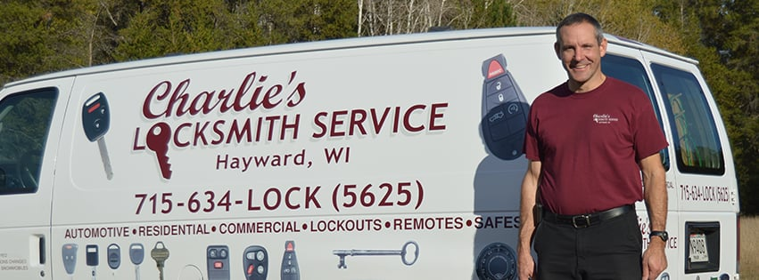 Charlie's Locksmith Service: 10244 Towne View Rd, Hayward, WI