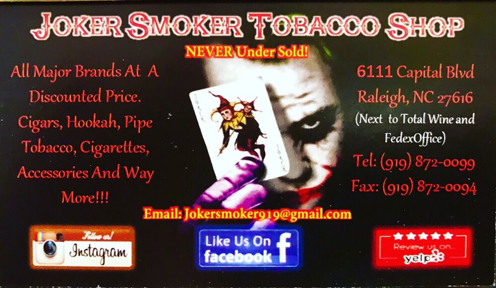 Photo Of Joker Smoker Raleigh Nc United States New Business Cards