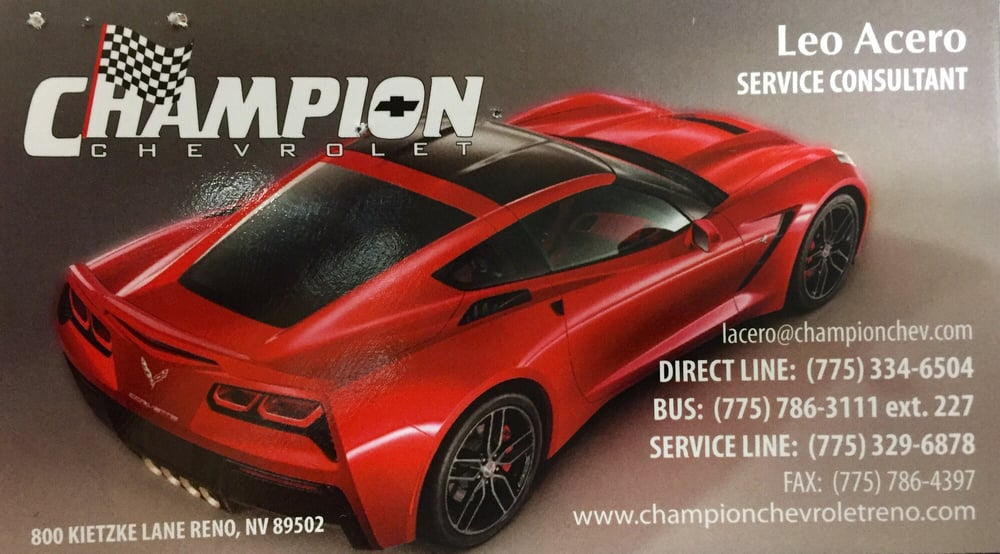 champion chevrolet 19 fotos 56 beitr ge autohaus 800 kietzke. Cars Review. Best American Auto & Cars Review