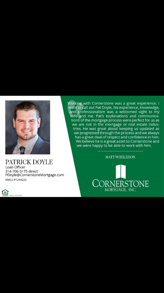 Patrick Doyle - Cornerstone Mortgage: 1266 Main St, Imperial, MO