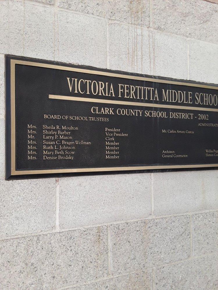 Victoria Fertitta Middle School   9905 W Mesa Vista Ave, Las Vegas, NV, 89148   +1 (702) 799-1900