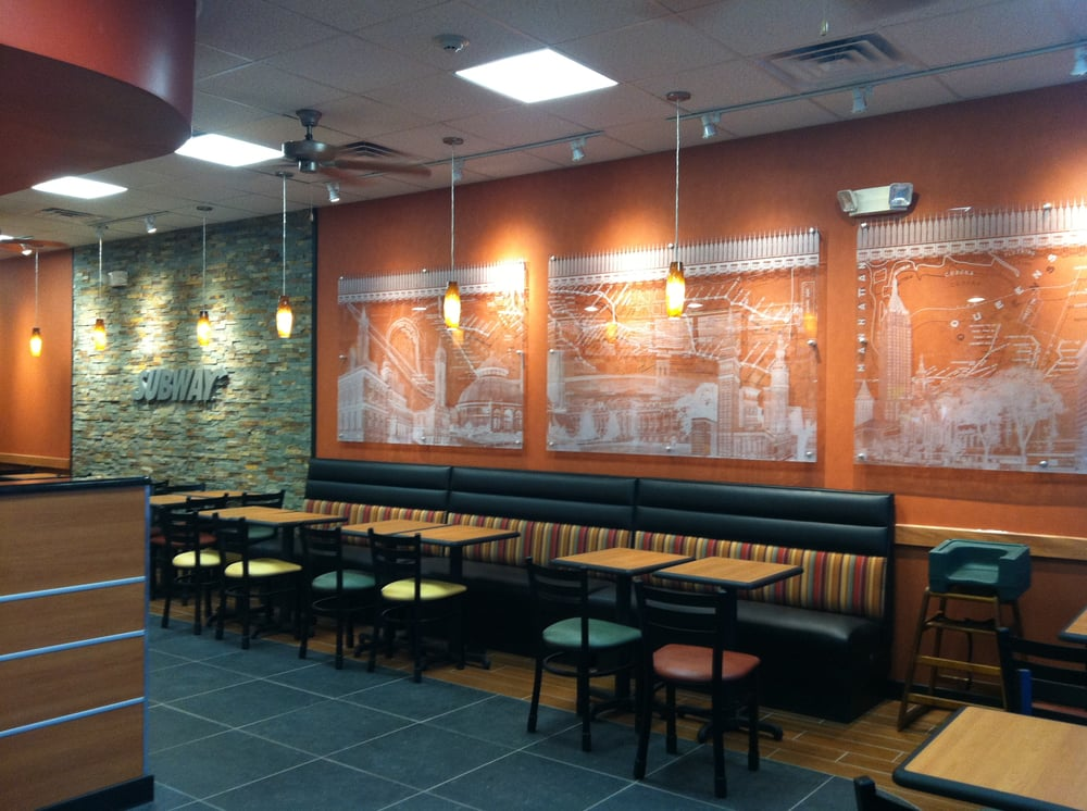 Check out new metro décor at this subway yelp