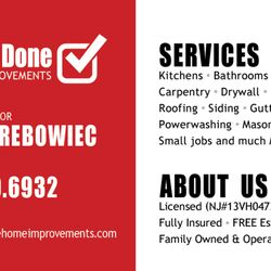Get it done home improvements 12 photos roofing general photo of get it done home improvements wayne nj united states get get it done business card reheart Image collections