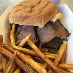 Photo Of Brooks Backyard BBQ   Mesquite, TX, United States. Sliced Brisket  Sandwich