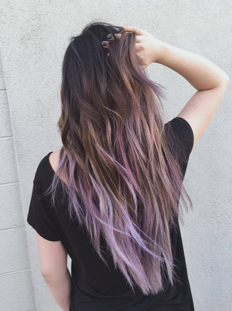 ash brown to lilac balayage! - Yelp