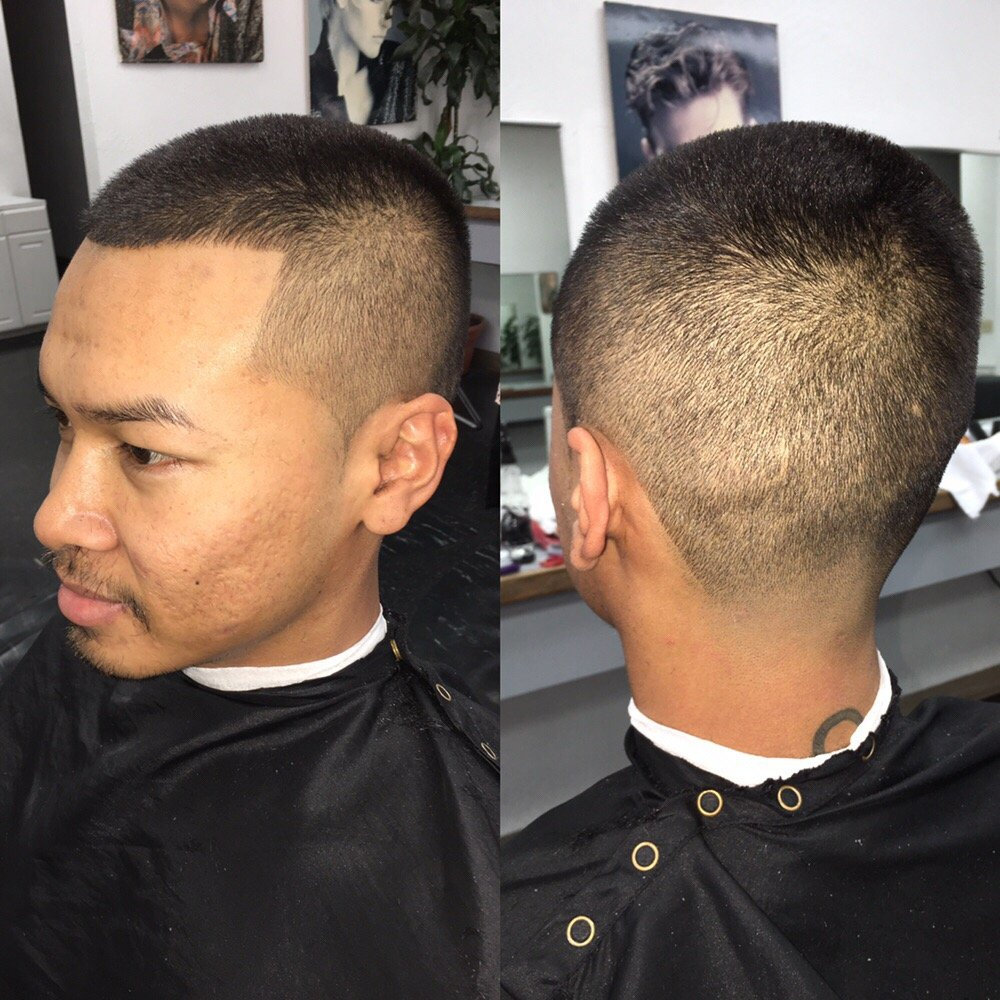 Regular Haircut With A Bald Taper Adult Haircuts For Men And Women