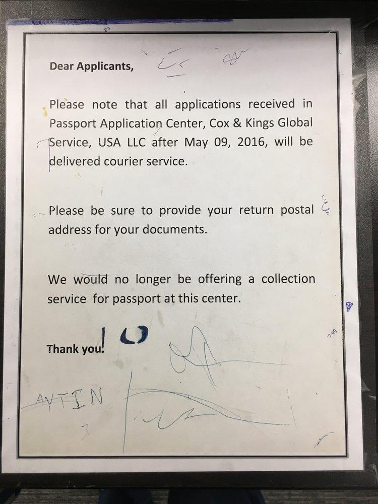 No facility to pickup processed/renewed passport - Yelp