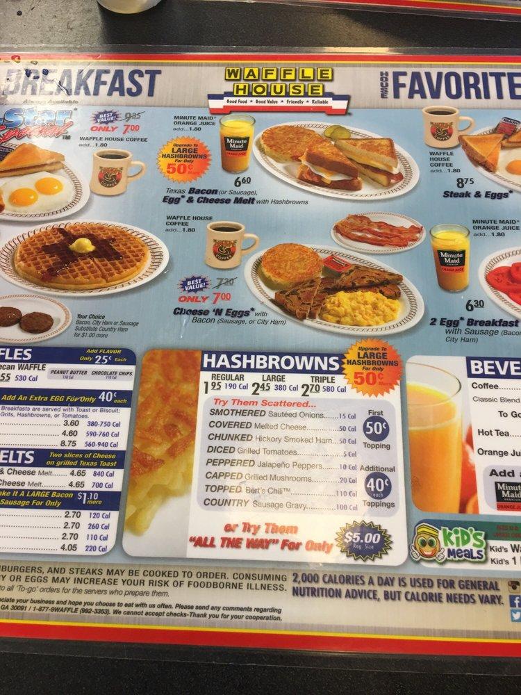 Waffle House: 745 E Washington Ave, Ashburn, GA