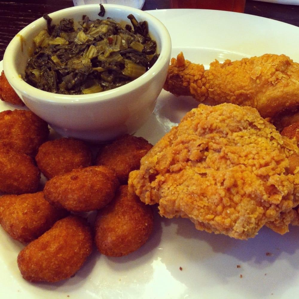 Folks Southern Kitchen: Juicy N Crispy Fried Chicken, Healthy Turnip Greens