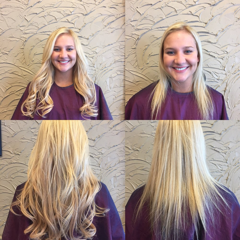 Before After Cinderella Hair Extensions West Bloomfield Michigan Yelp