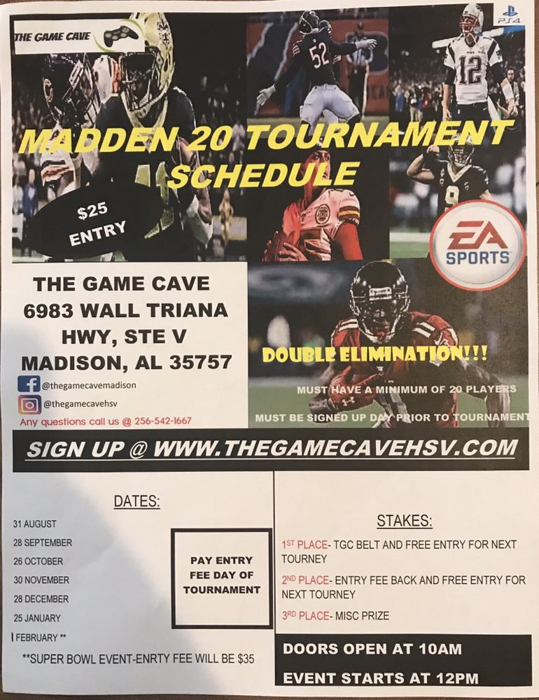 The Game Cave: 6983 Wall Triana Hwy, Madison, AL