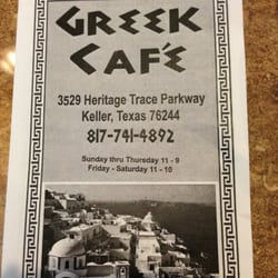 Greek Cafe Keller Tx Menu