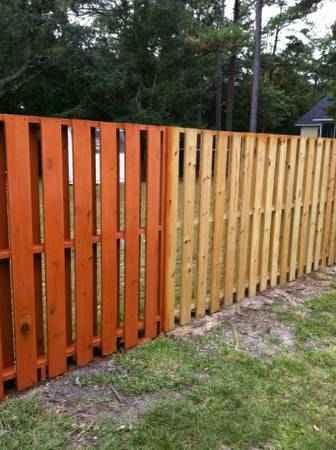 Flood Cedar Toned Waterproofing Product Applied On