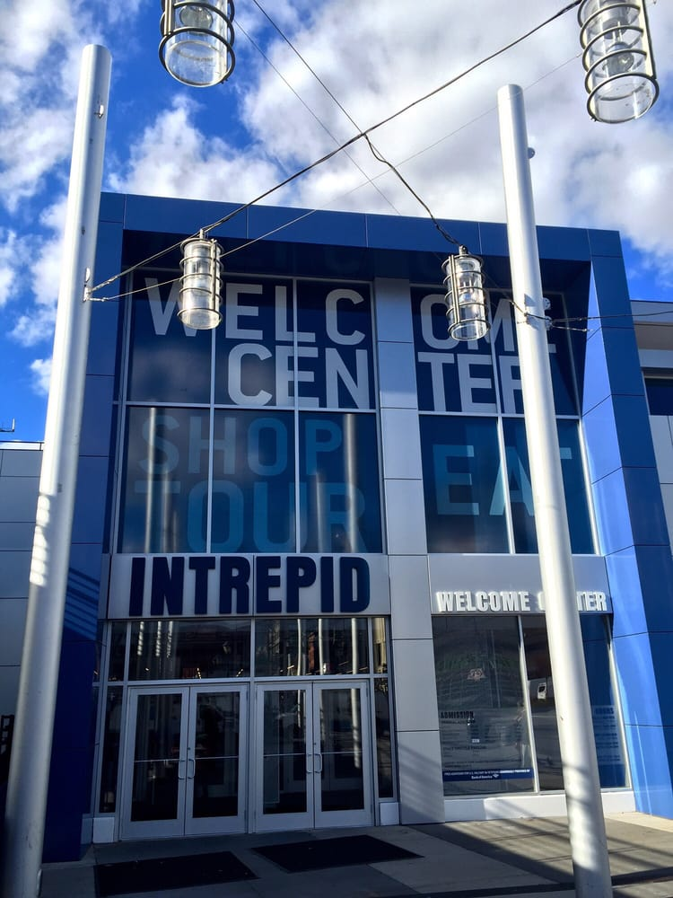 Photo of Intrepid Sea Air & Space Museum - New York, NY, United States. Entrance to the Welcome Center of the Intrepid Sea, Air & Space Museum