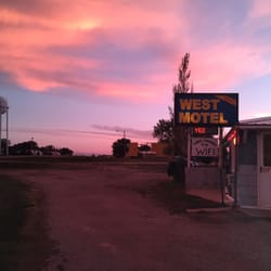 Photo Of West Motel Kadoka Sd United States South Dakota Sunset Over