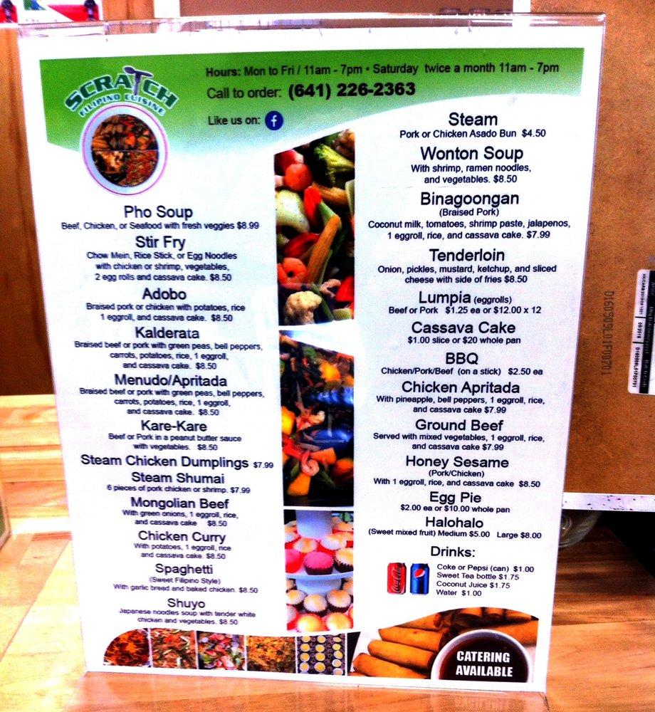 Scratch Filipino Cuisine: 606 W Main St, Ottumwa, IA