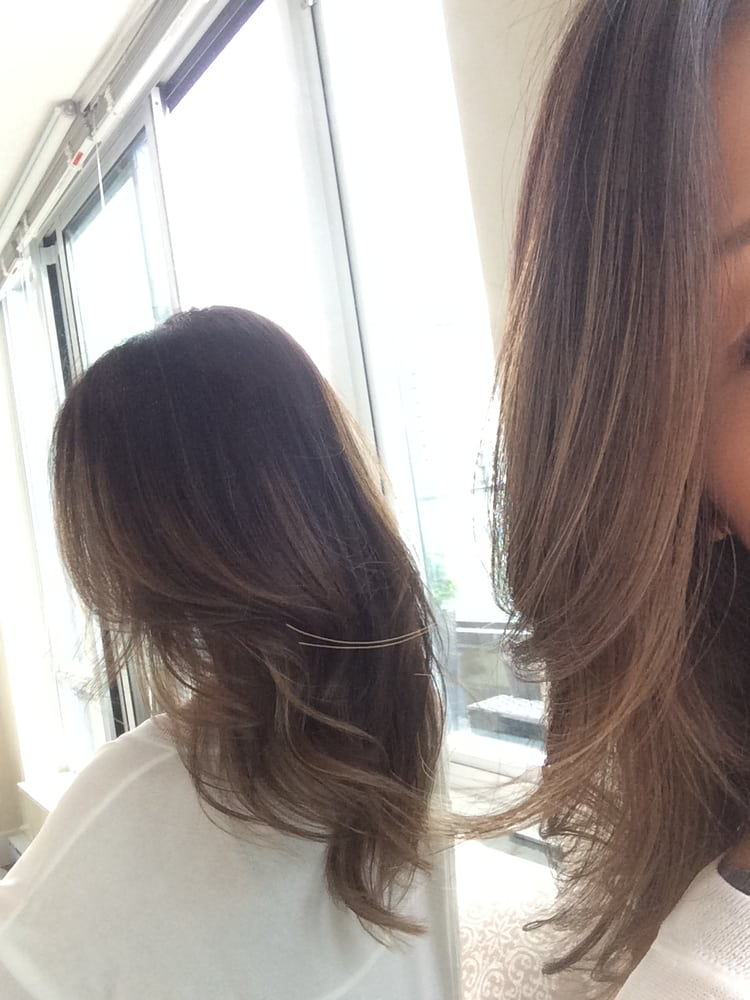 Went in with dark asian hair left with subtle ashly for 2 blond salon reviews