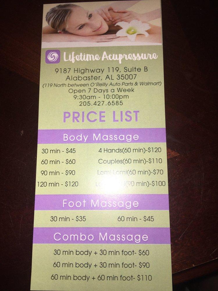 Lifetime Acupressure: 9187 B Hwy 119, Alabaster, AL