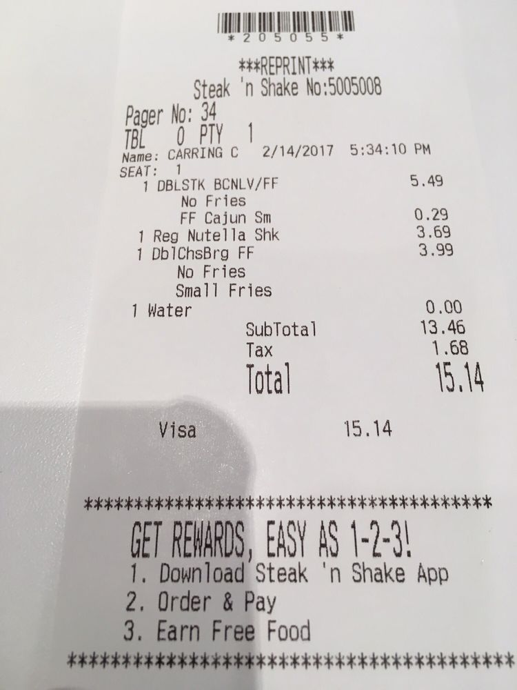 itemized receipt
