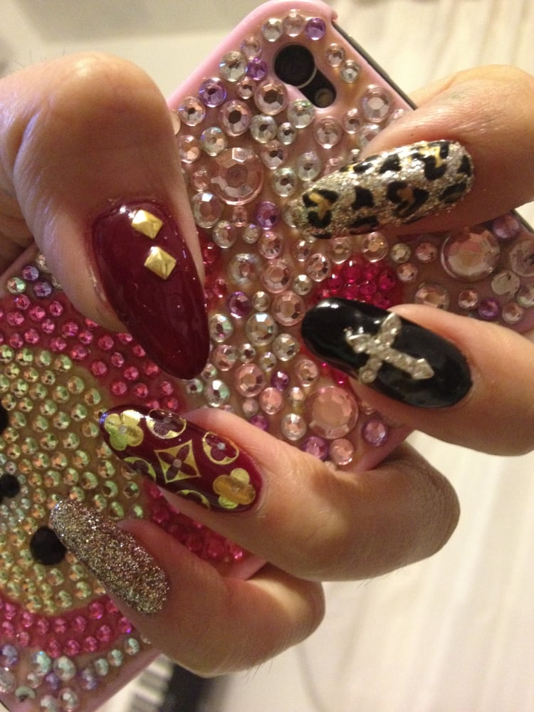 Louis Vuitton Inspired Nails By Lexi At Chi Nail Bar Instagram
