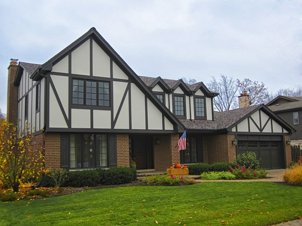 Glenview tudor home remodeled by siding windows group for Tudor siding