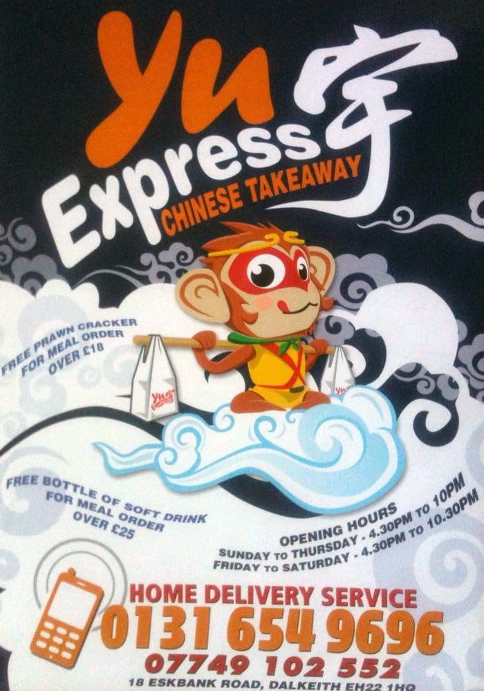 Yu Express Chinese: 18 Eskbank Road, Dalkeith, MLN