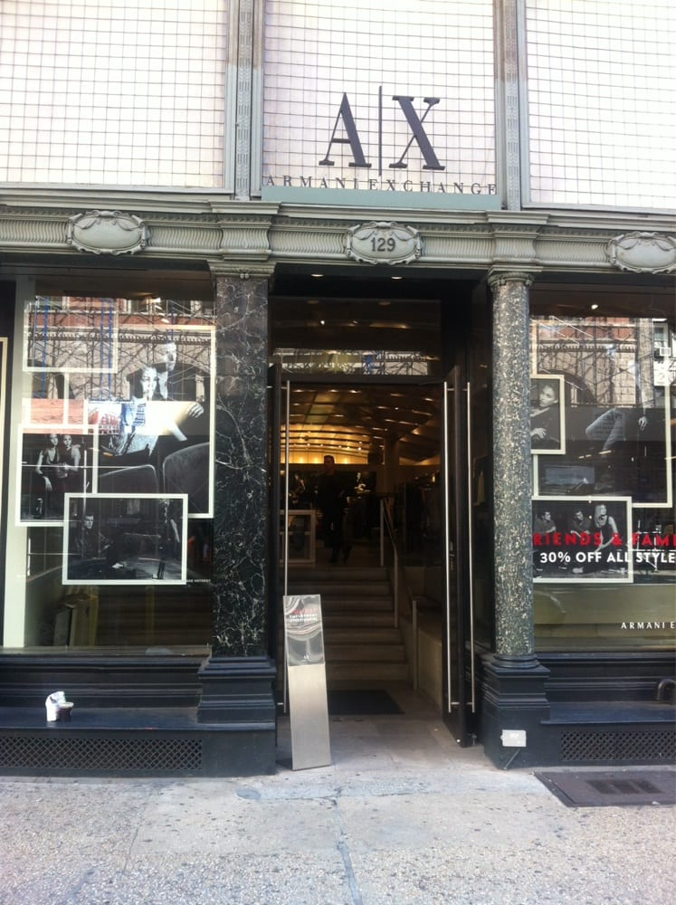 Armani exchange closed men 39 s clothing 129 5th ave for Armani new york