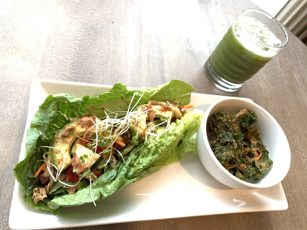 Food from Gigi's Vegan Cafe