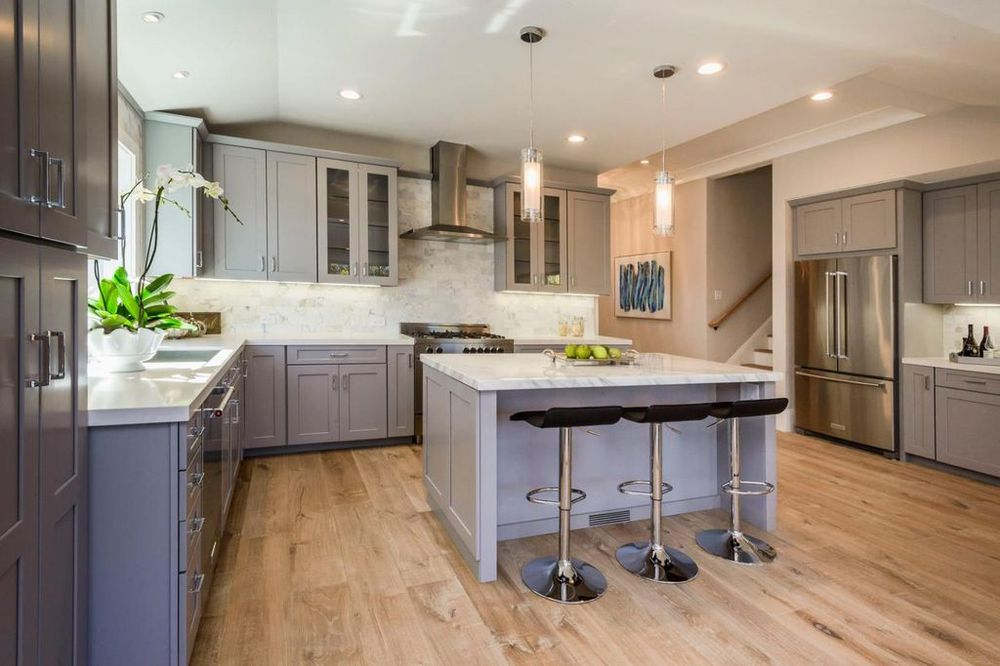 kitchen cabinets san carlos kitchen cabinets in grey finish by waypoint yelp 21148
