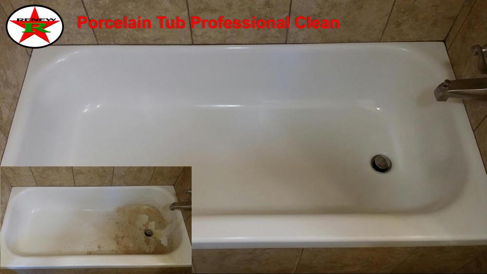 how to clean a porcelain tub