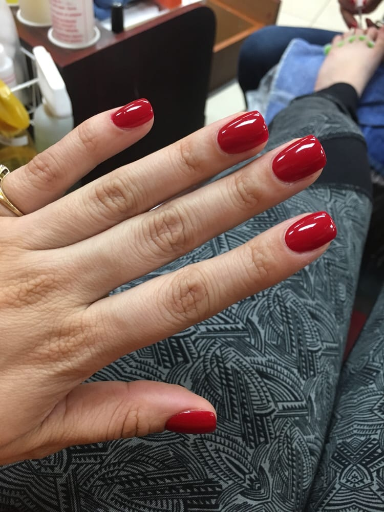 Got a awesome nail overlay and a pedi!!! Place is clean staff is ...