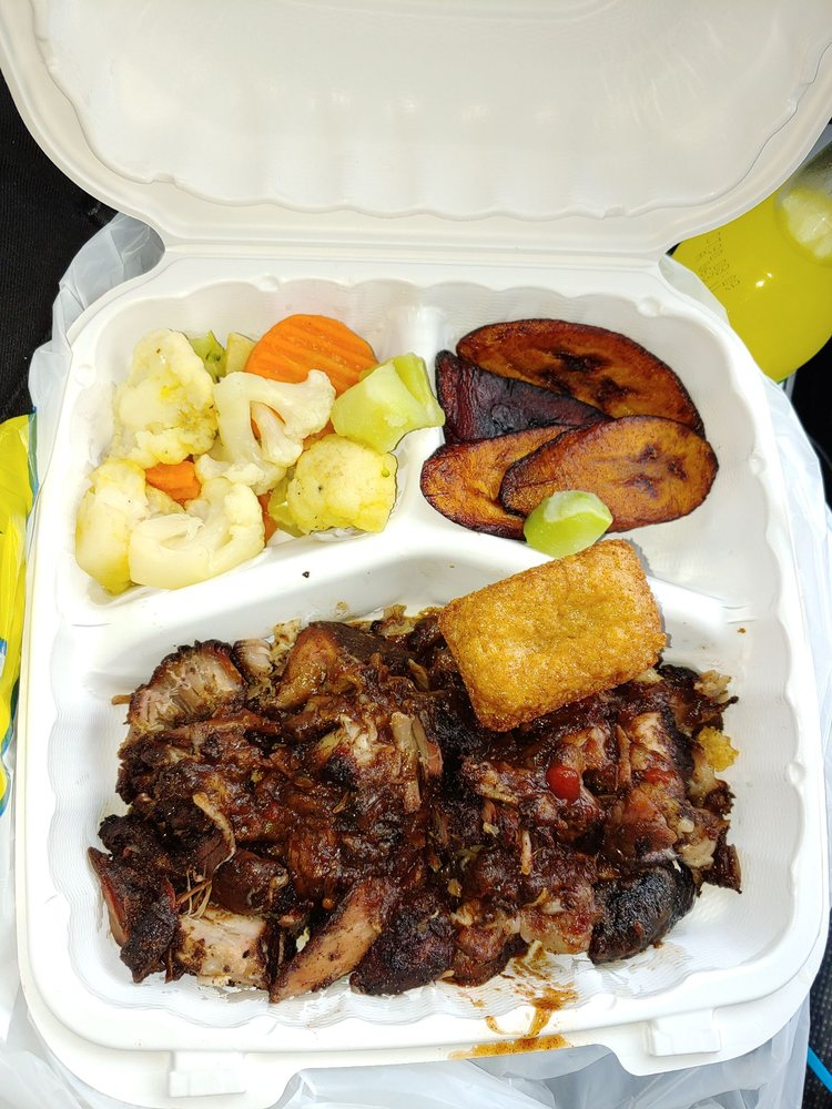 Food from Island Jerk Hut