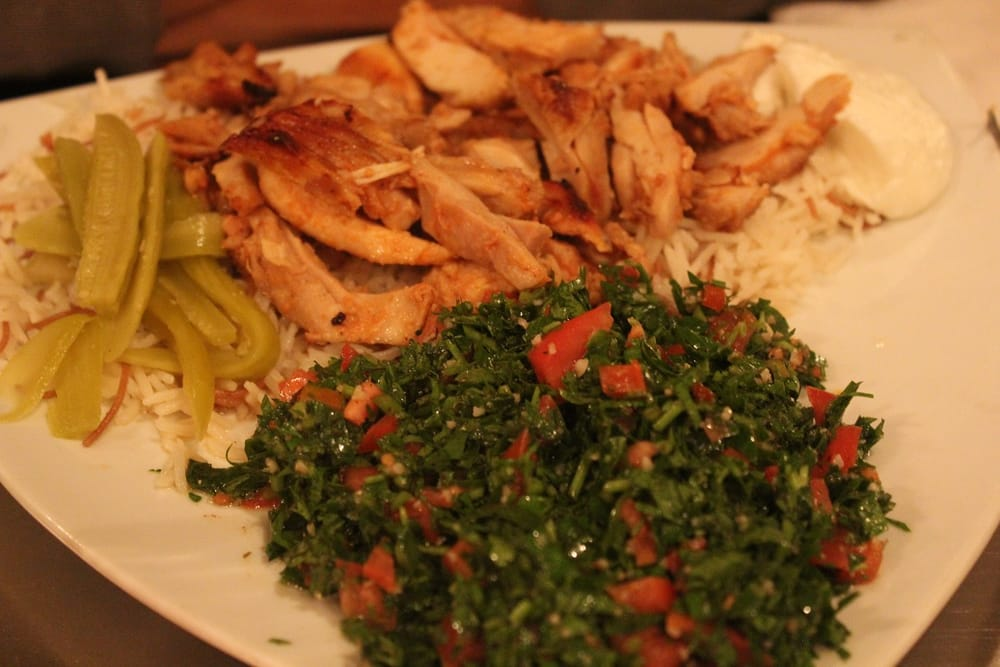 Chicken Shawarma And Tabouli Salad