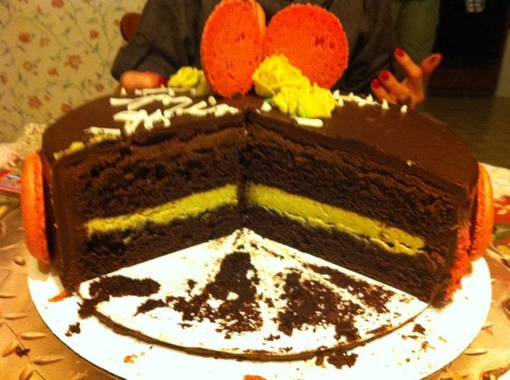 Birthday Cake Chocolate Cake With Pistachio Filling Yelp