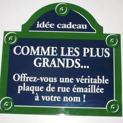 Idee Cadeau A Paris.La Plaque Emaillee Signmaking 184 Avenue Du Maine 14eme