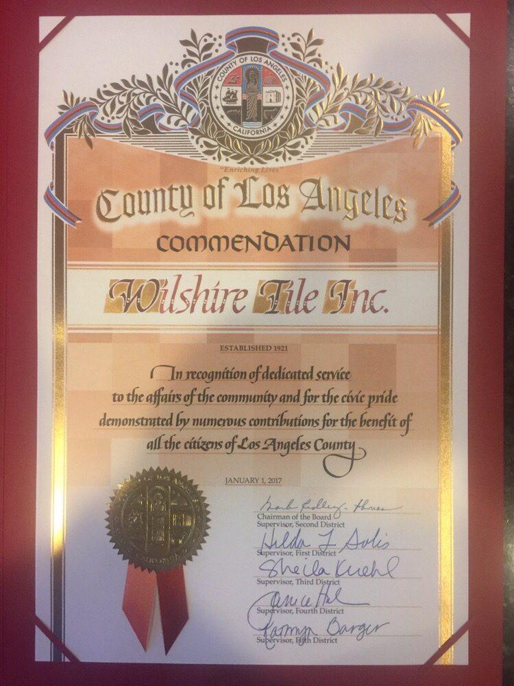 Wilshire Tile Inc: Los Angeles, CA