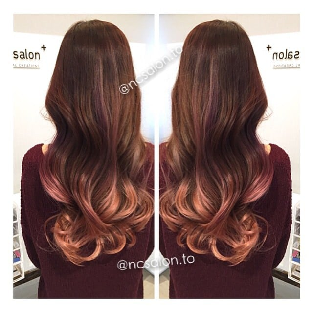 rose gold highlights caramel tone ombre balayage   yelp