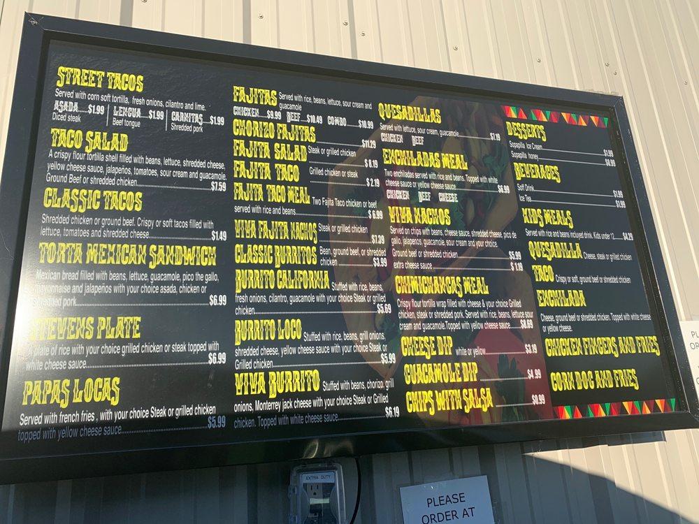 Viva El Taco Mexican Grill: 1024 Slack St, Pea Ridge, AR