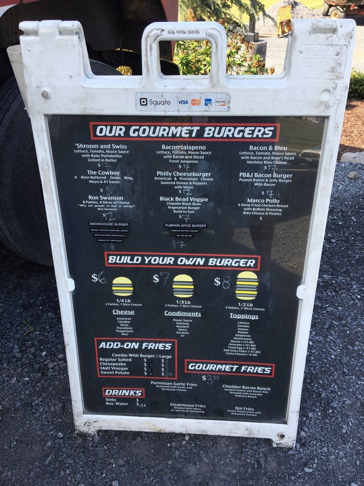 Food from Old School Burgers