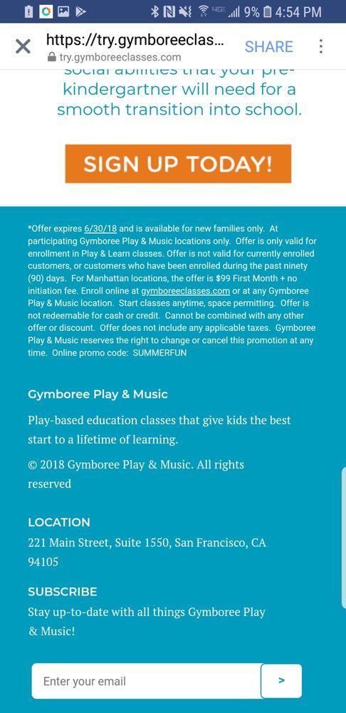 Gymboree Play & Music: 27131 Aliso Creek Rd, Aliso Viejo, CA