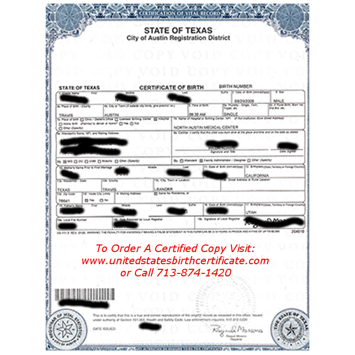 Order Your US Birth Certificate From Texas. - Yelp