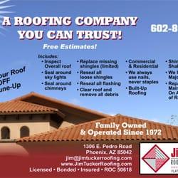 Jim Tucker Roofing Roofing 1306 E Pedro Rd Phoenix